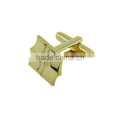 2016 factory direct sales gold bulk cufflinks sleeves jewellery/shiny gold cufflink/Promotion gifts metal cufflinks