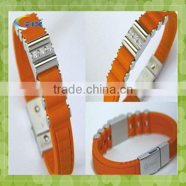 2014 newest high quality oem silicone bracelet for promotion gift