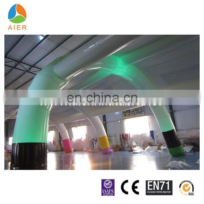 outdoor inflatable outdoor wedding party tent with led light