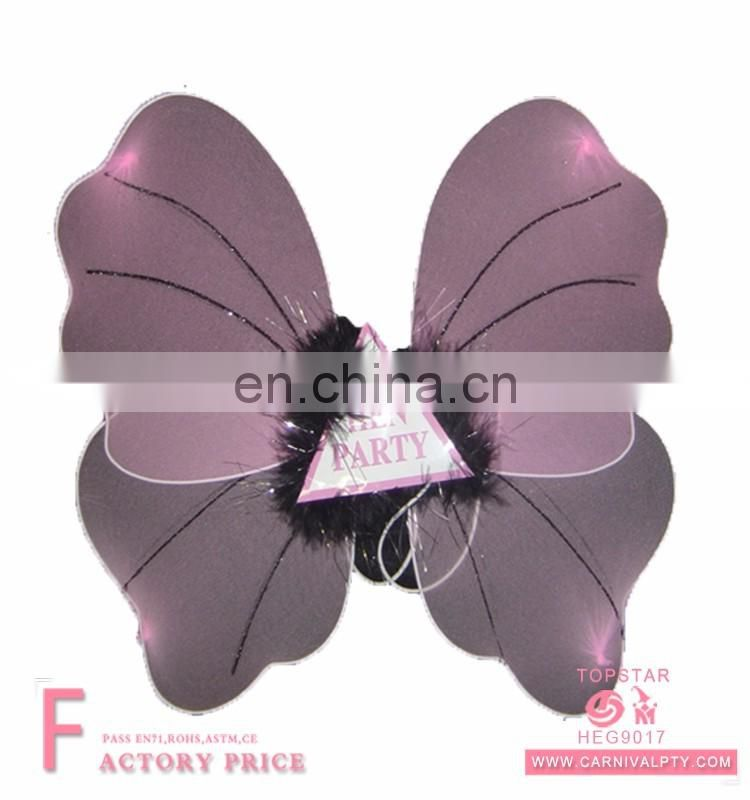 Event party pilot Purple Silk fairy Butterfly Wing Set christmas decoration 2018