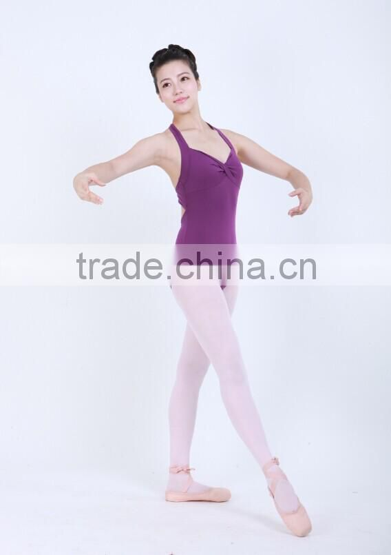D031015 Lycra cross front halter ballet costume girls leotard gymnastics leotard adult