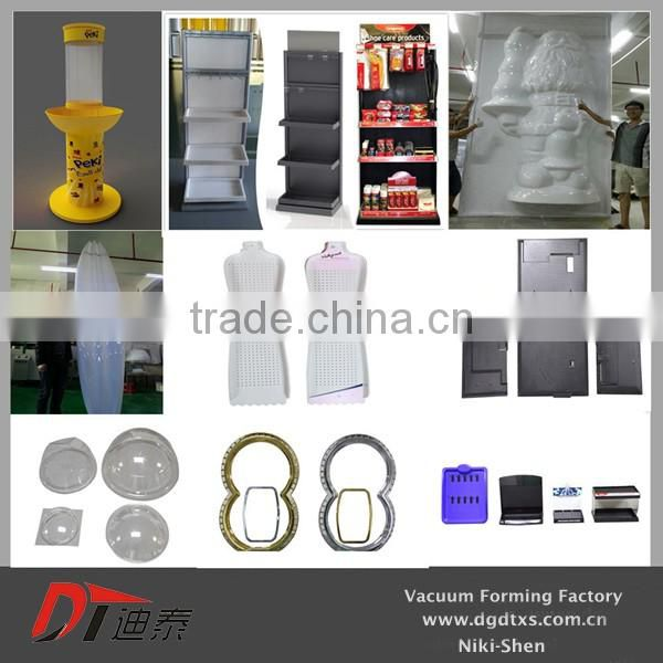 OEM yellow plastic door for battery car by vacuum forming
