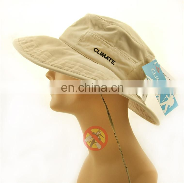 Anti mosquito functional outdoor hat