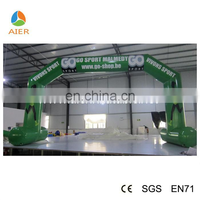 Outdoor inflatable arches for racing sport, inflatable green arch, inflatable finish line arch