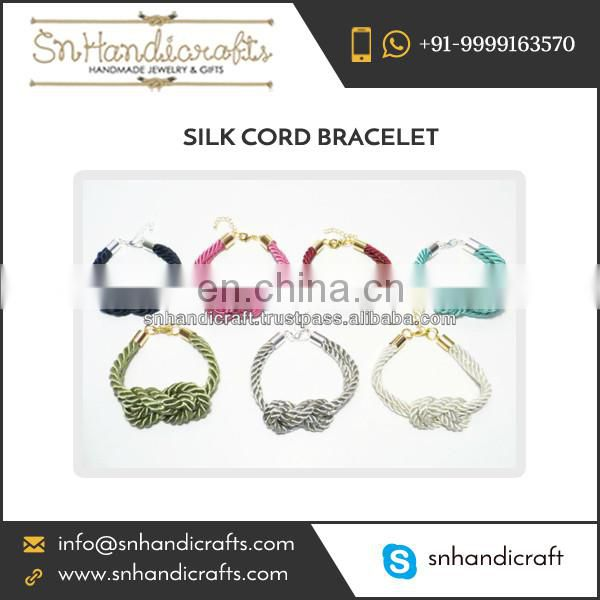 Colorful Fine Design Silk Cord Bracelet at Low Price
