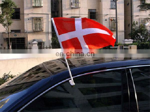 Polyester car flag with custom design