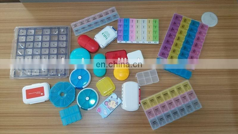Transparent empty plastic pill bottle