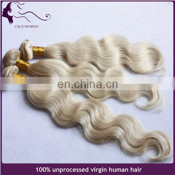 Alibaba China factory honey blonde body wave brazilian virgin human hair