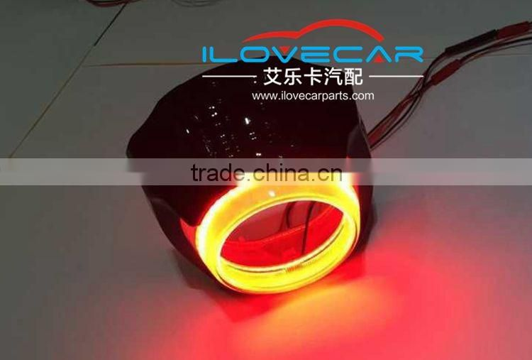 3.0 inch Projector Lens shroud with LED Angel Eye + Devil Eye DRL cover