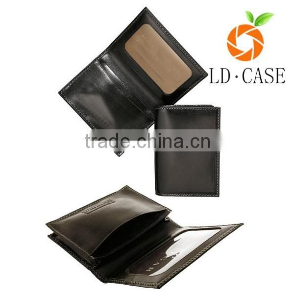 high quality slim genuine leather card holder purse business rfid blocking card holder wallet money clip