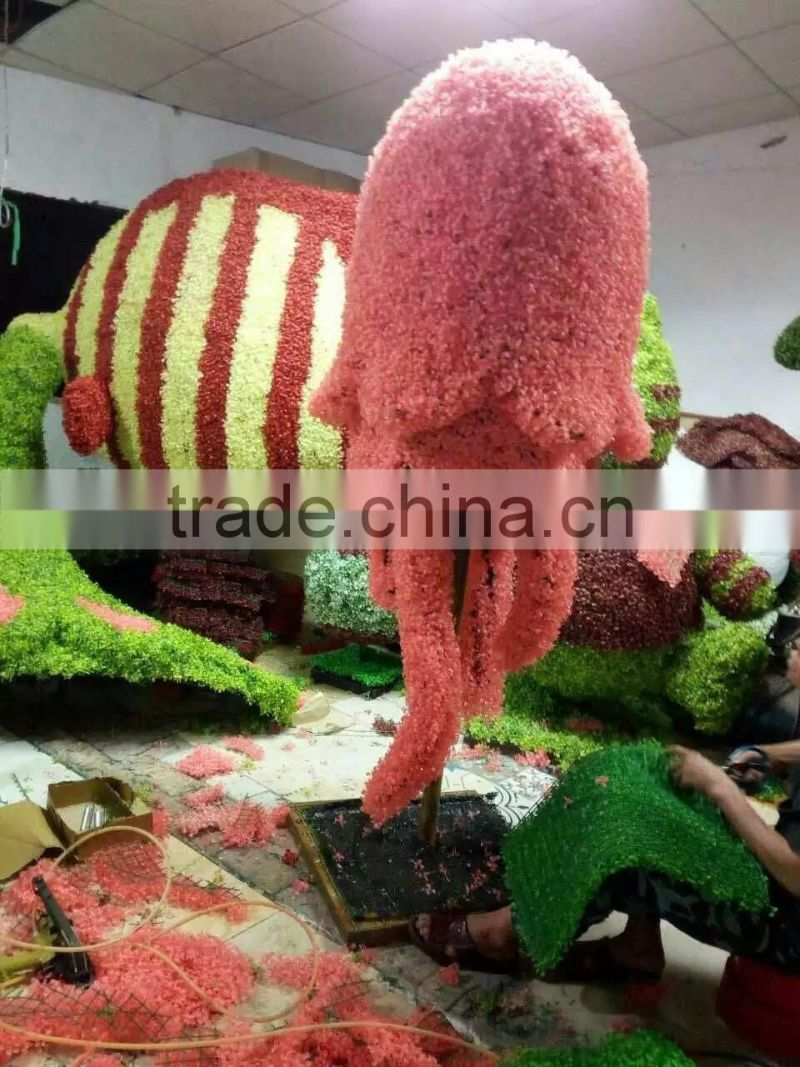 life size large top party artificial landscape uv resin plastic animal leaf alphabet letter guitar statue E08 23A11