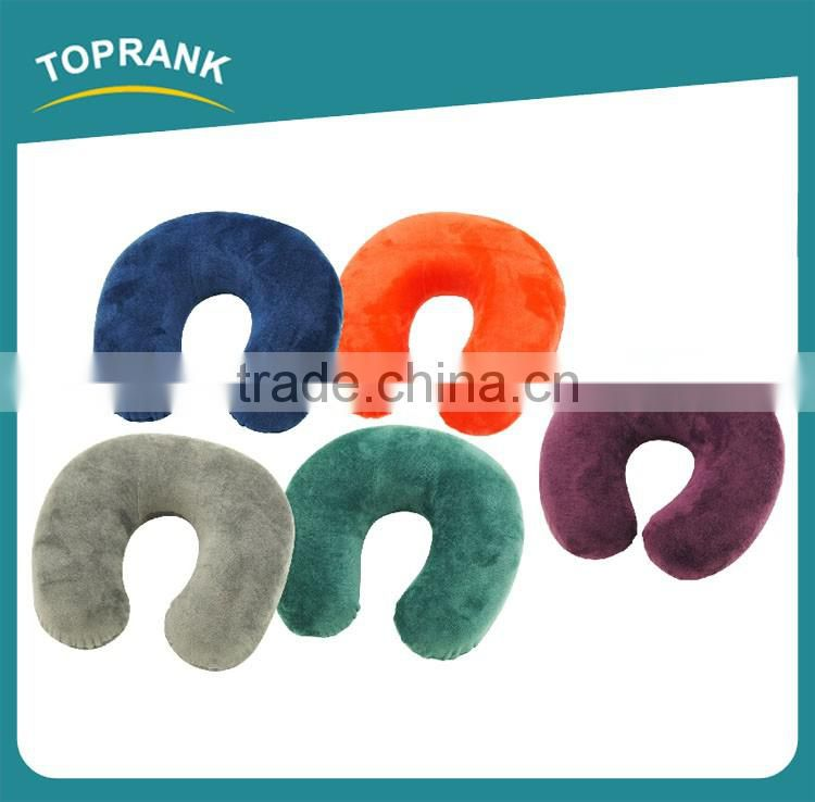 Toprank cheap neck use memory foam pillow, travel memory pillow with button, comfortable travel memory foam pillow