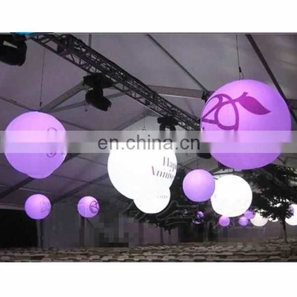 Party decoration advertising cheap Led lighting inflatable hanging balloon