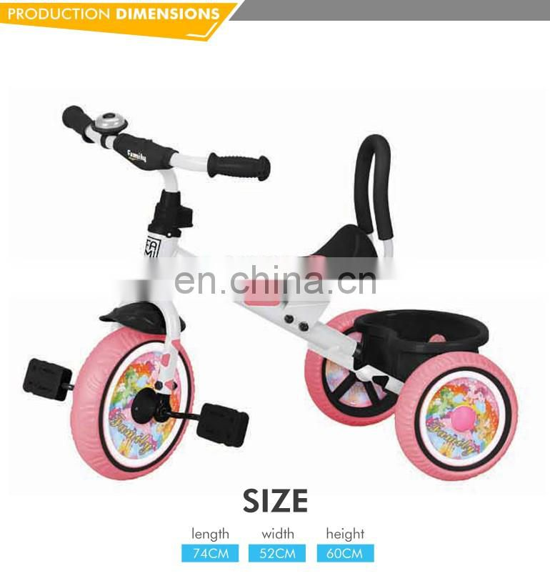 2016 newest three wheels baby wholesale baby tricycle