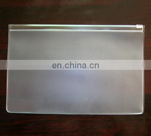 Promotional resealable custom A4 plastic zipper bag