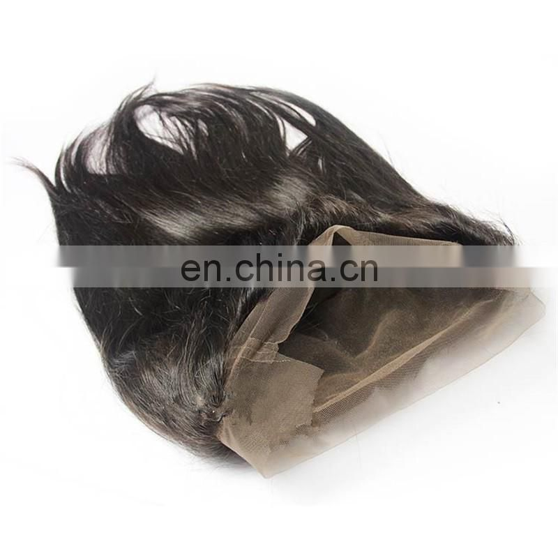 Overnight delivery 360 full lace frontal large in stock with raw virgin brazilian natural hair wholesale price