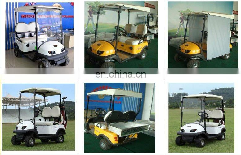 2 seater classic electric golf car two seat mini electric cargo golf car