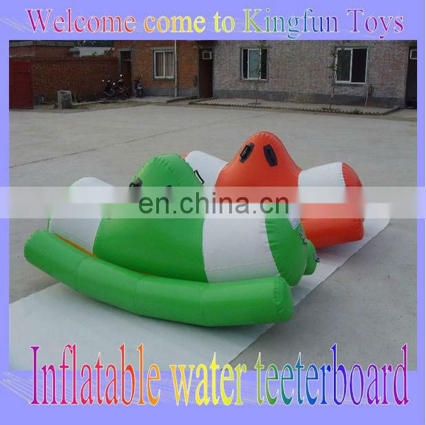 Air sealed inflatable flying fish water game