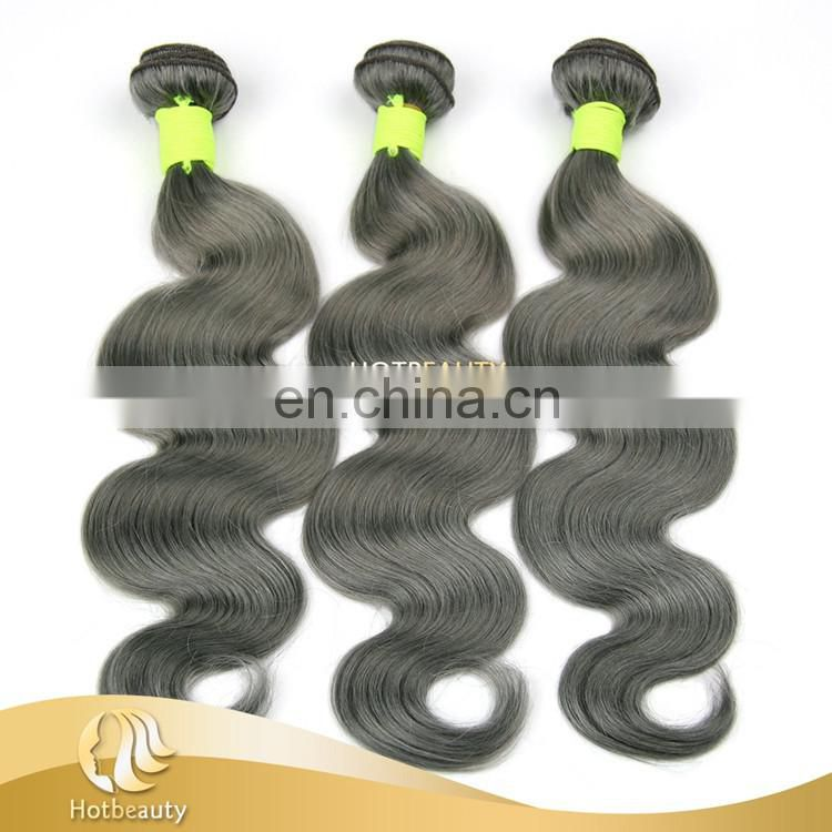 2017 New Arrival Body Wave Grey Customized Human Hair Curly No Any Split