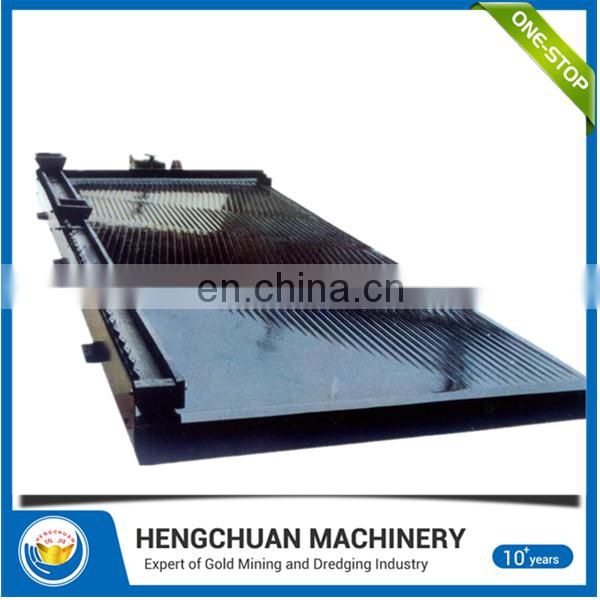 China supplier 6-S High recovery rate scrap copper recycling shaking table/ mining shaker table for sale Image