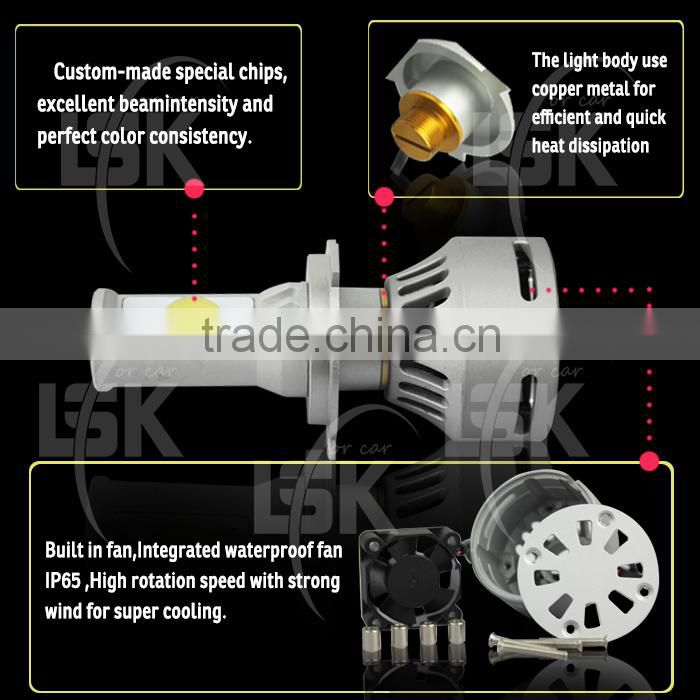 Manufactures supply 35W 6500k 12v g4 led head light bulbs with Excellent heat dissipation