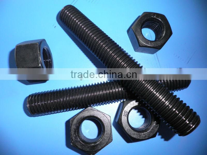 ASTM A193 B7 threaded rods with 2H hex nuts