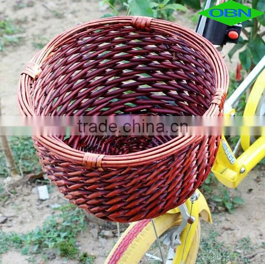 Wholesale wicker removable bicycle basket