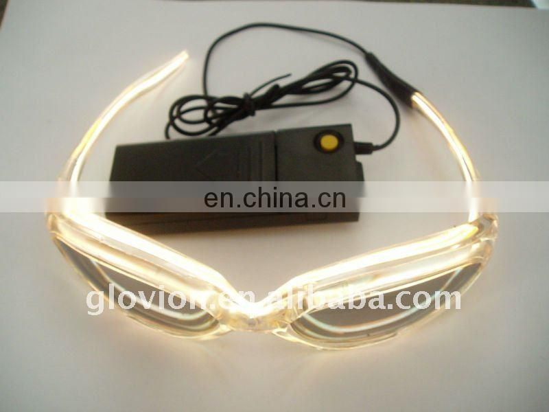 Fashion optical glasses el flashing glasses for christmas gifts