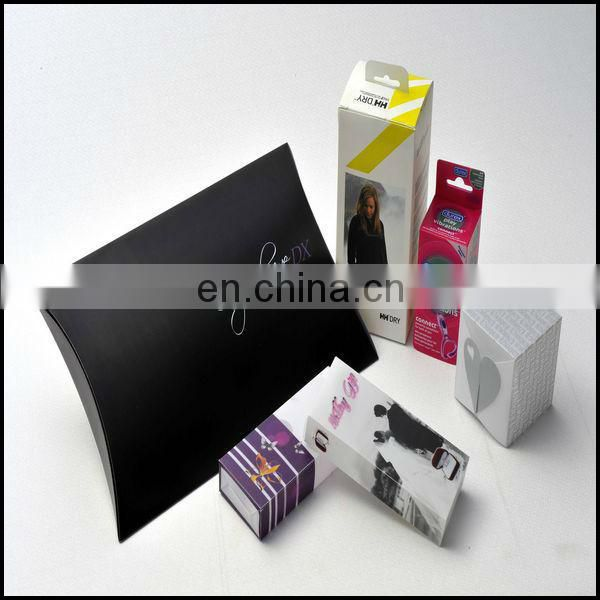 Wholesale Gift Pillow Paper Packaging Boxes With Custom Logo Printed