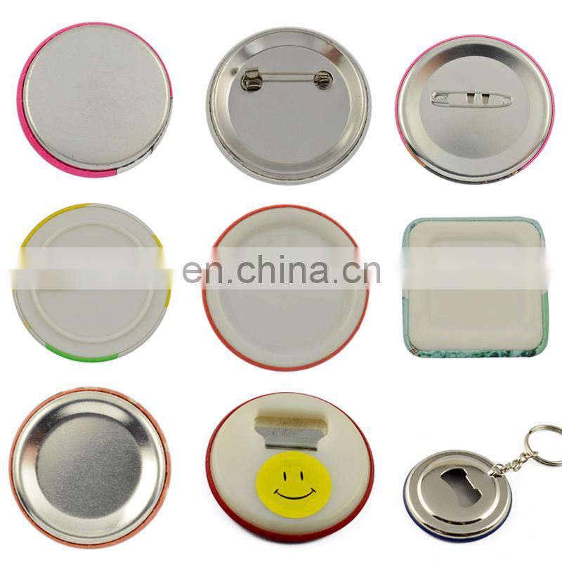 Button Badge Maker Promotion Custom Blank Tin Material 58MM Pin Button Badge Magnet