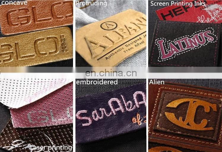 High quality classic embossed custom design jeans leather label
