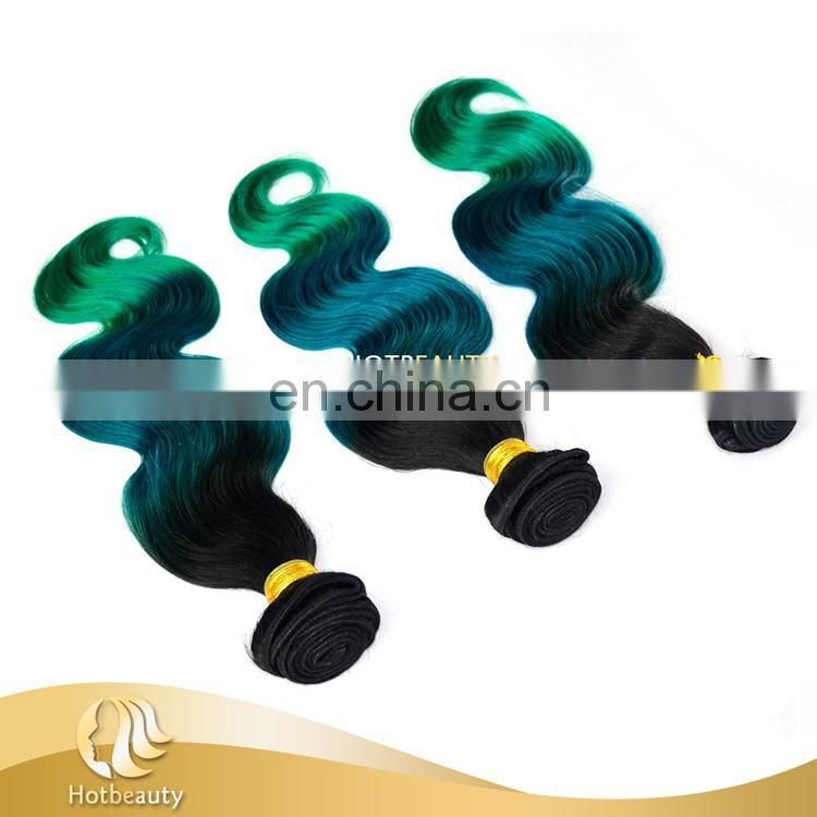 New Arrived Hair weaving 100% Remy Virgin Human Hair Extension Green Blue Body Wave
