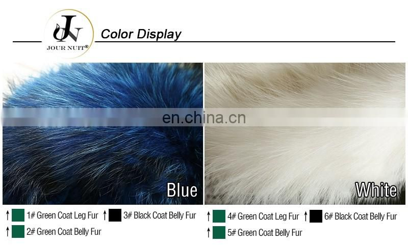 China Supplier Army Style Hoodies Detachable Fox Down Coat with Raccoon Fur Collar Jackets