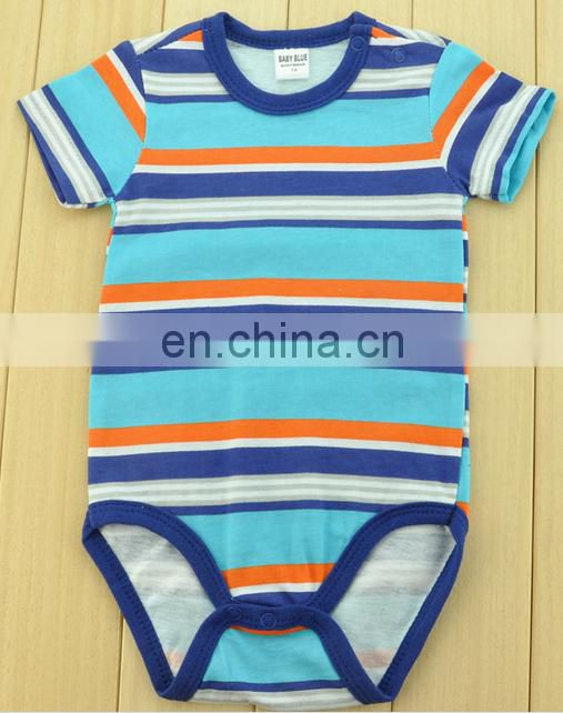2016 New Design 100% cotton fabric baby boys romper, baby clothes