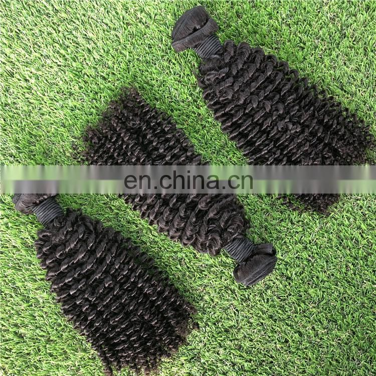 Natural 100% Human Best sale TOP quality Virgin remy curly hair extension for black women