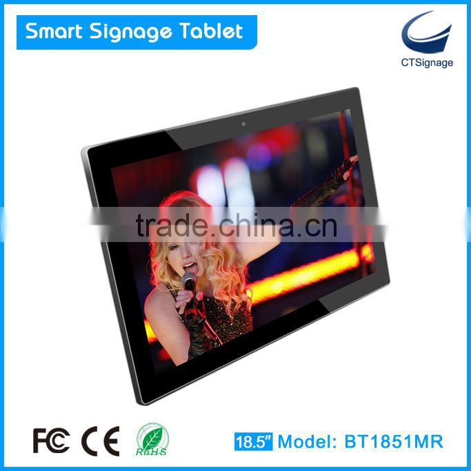 18.5 inch wall mounted HD advertising display with 10-points multi-touch