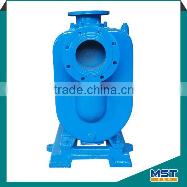 Horizontal stainless steel self-priming trash pump