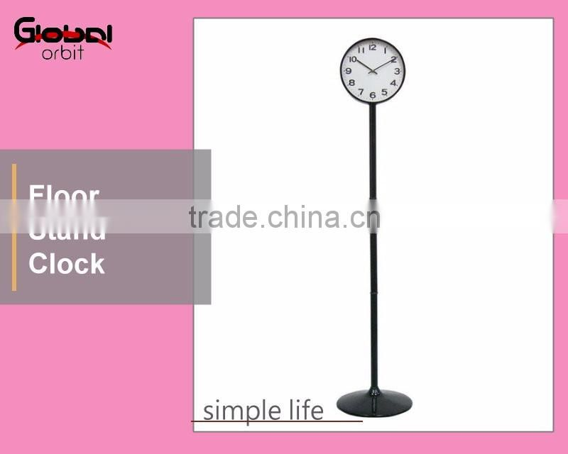 Home Decoration Modern Floor Clock Colorful Metal Floor Stand