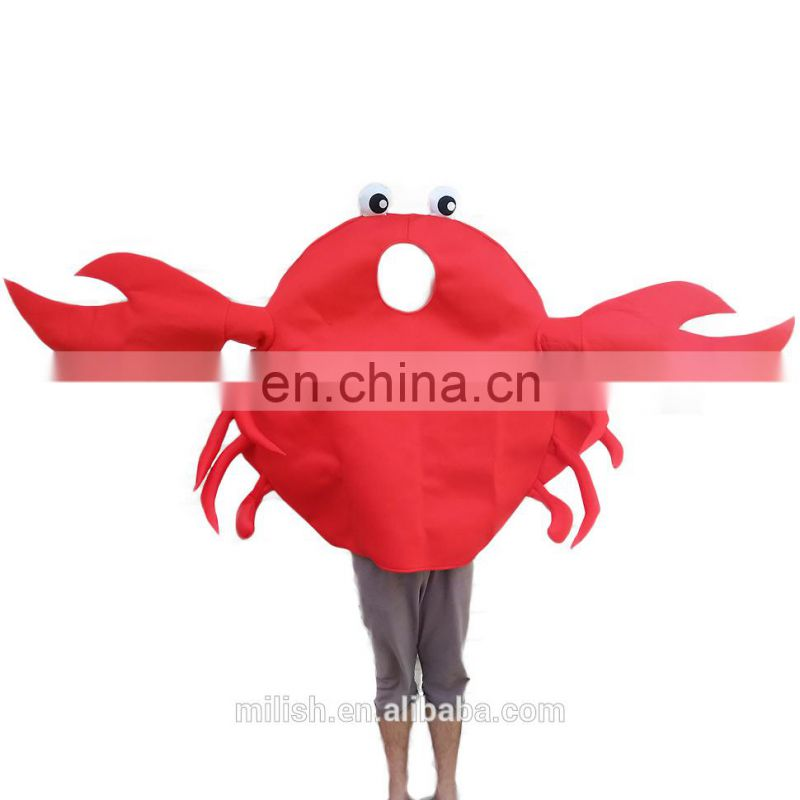 2017 hot wholesale funny simple halloween costumes crab mascot costumes for adult MFJ-0073