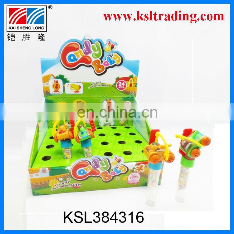24PCS plastic wind up animal candy toy for baby