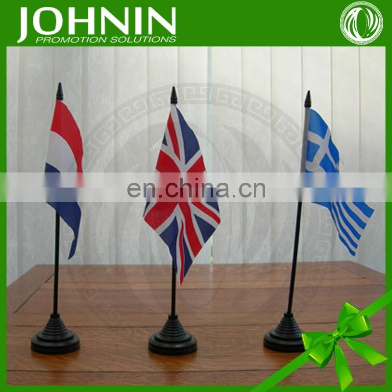 widely use weaving high quality custom table flag for promotion