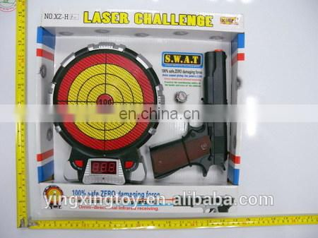 Battery operation Infrared Gun toys with laser and music target