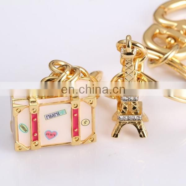HOT SALE CRYSTAL SOUVENIR EIFEL TOWER BOX KEY CHAIN DEPENDENTS