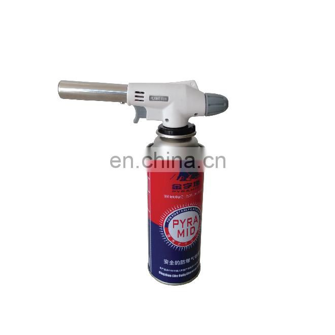 Empty butane gas canister and empty aerosol container 220g