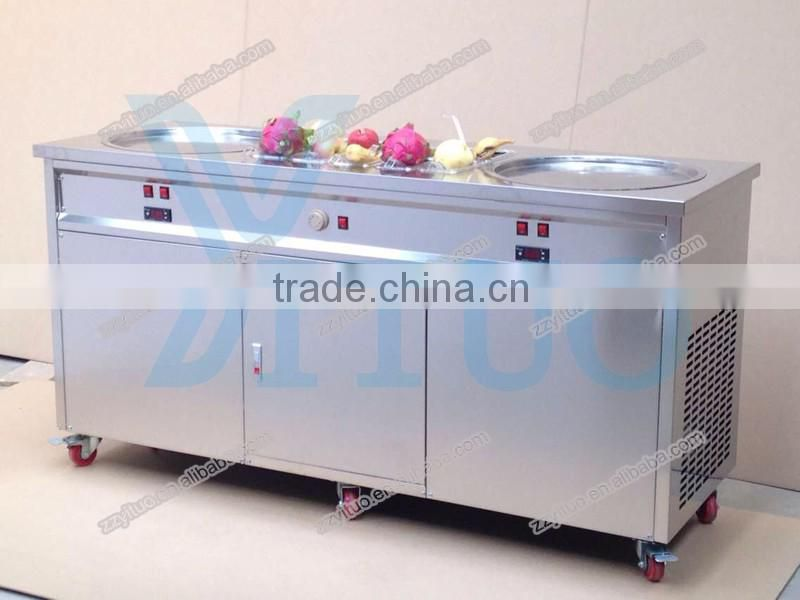 Factory Price Stainless Steel Fried Ice Cream Roll Machine For Sale