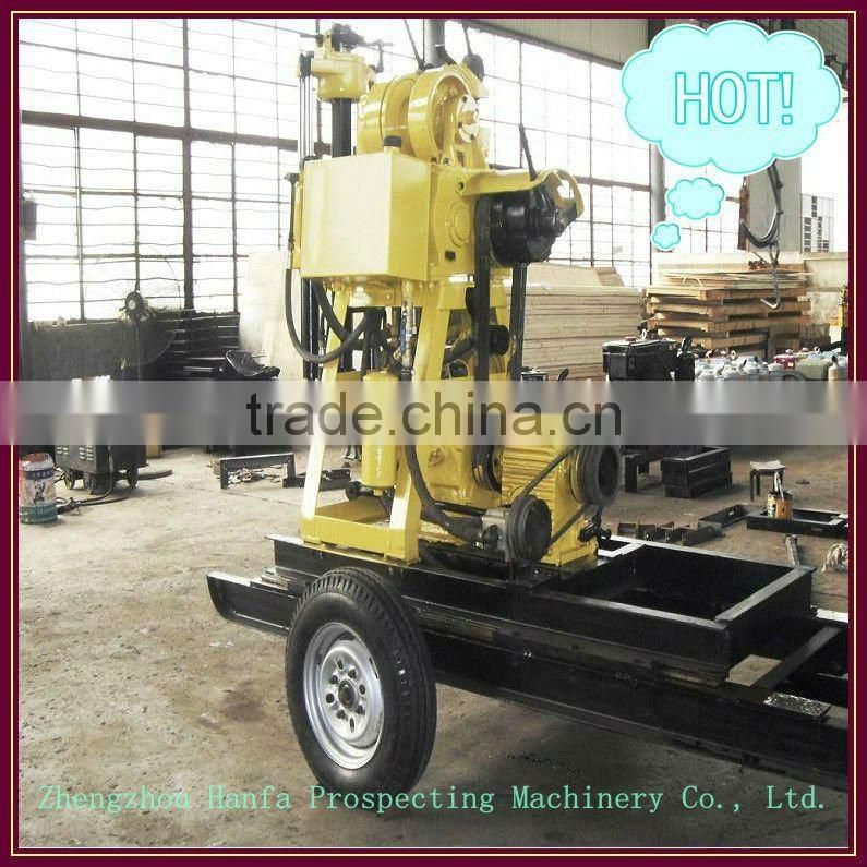 Hydraulic Control&Trailer Mounted Drilling Rig ! HF150 Hydraulic water well drilling east texas