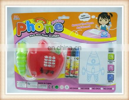 cartoon children musical telephone with notebook YX0260856