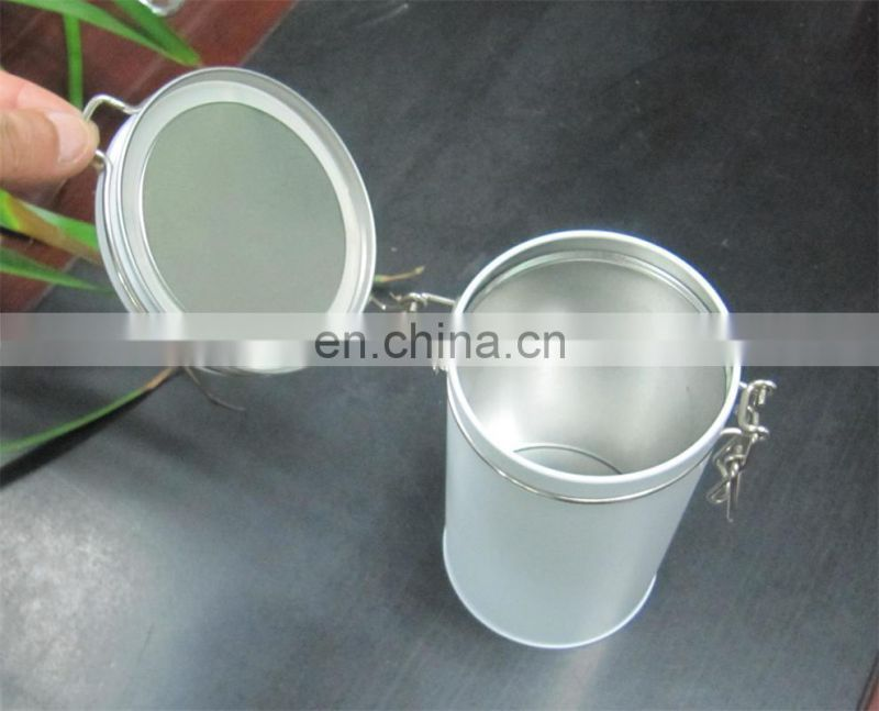 Hot sale airtight round tin with clasp
