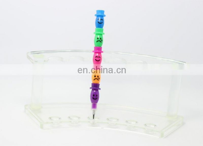 hat shaped stacker crayon multi colored crayon