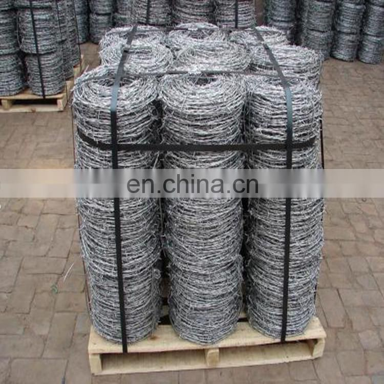 electro galvanized twisted barbed wire, 12.5 Gauge, 2 - Point, 1320 ft
